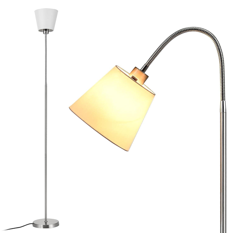 Luxpro Klassische Stehleuchte Fluter 160cm Chrom Stehlampe Design Wohnzimmer Schwenkbar LED Weiss Amazonde Beleuchtung