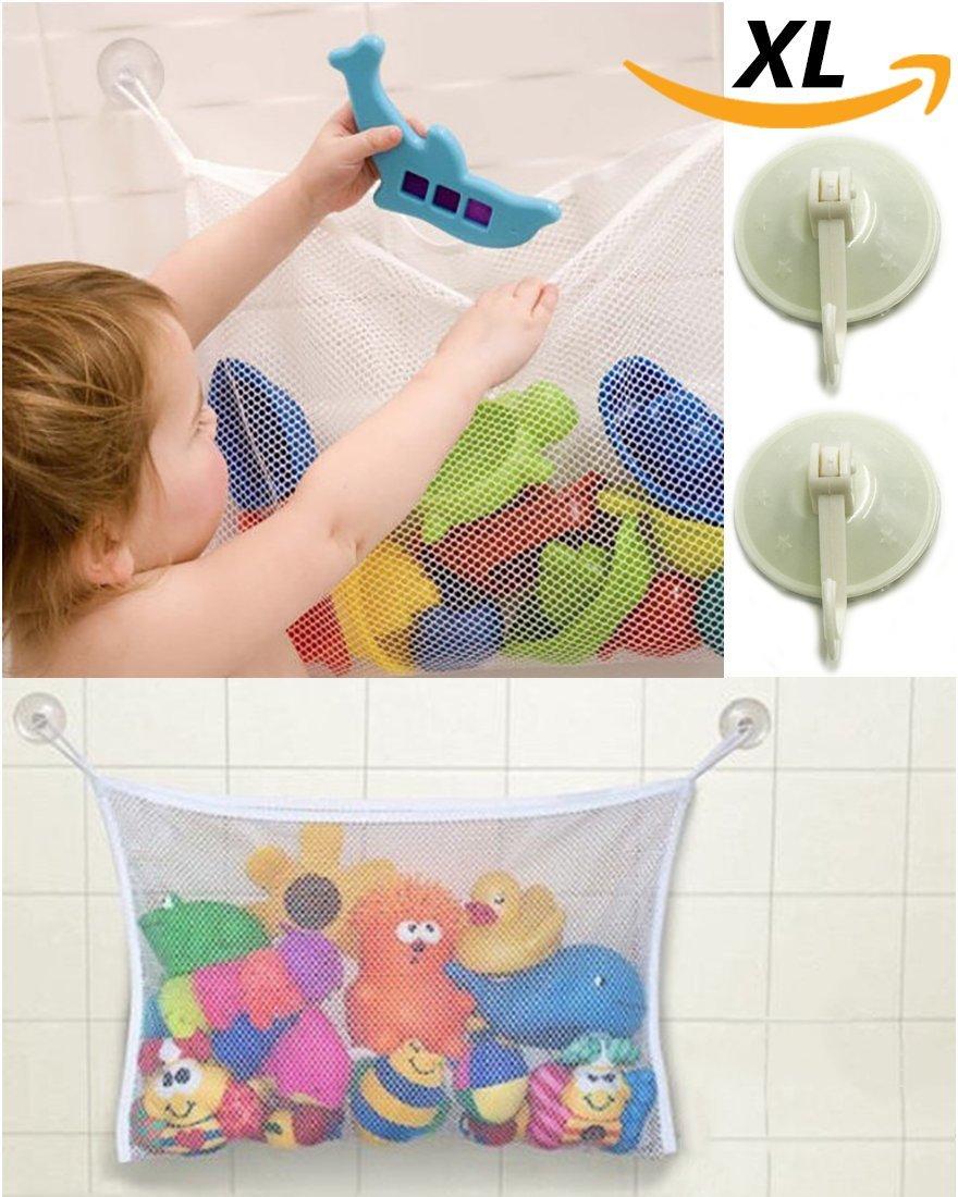 liltourist giocattolo di giocattoli Organizer, vasca da bagno giocattolo Conservazione, vasche da bagno Rete, Rete con forte Ventose per piastrelle, vetro e più