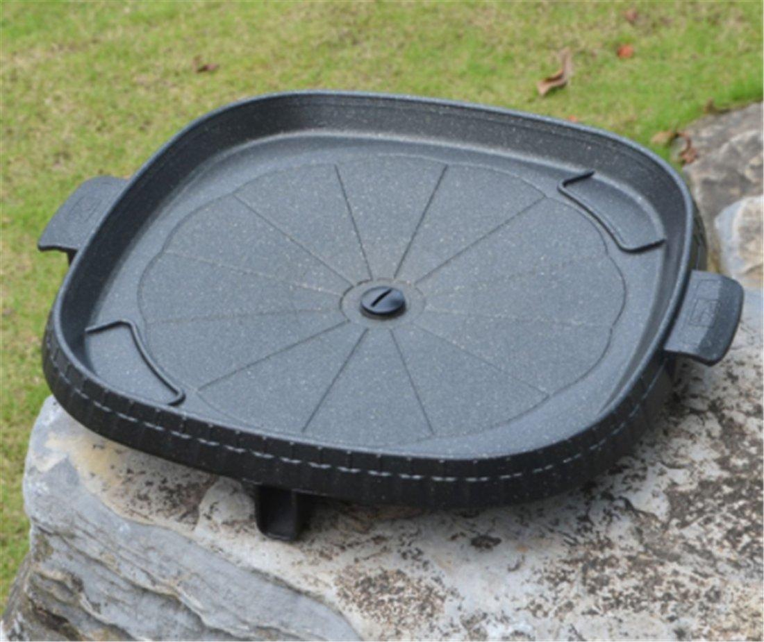 Yeying123 Quadratischer Grillteller Kampierender Tragbarer Grillteller Des Hauses Im Freien