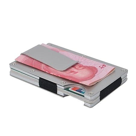 pethot funda de fibra de carbono Clip de dinero tarjeta de ...