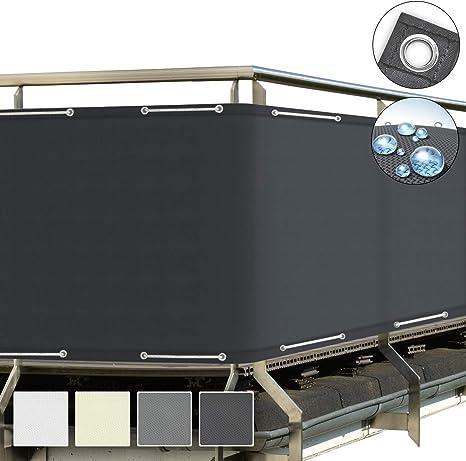 Schermo Privacy con Occhielli Impermeabile Crema Sol Royal Frangivista e Telo frangivento per balconi SolVision PB2 90x500 cm
