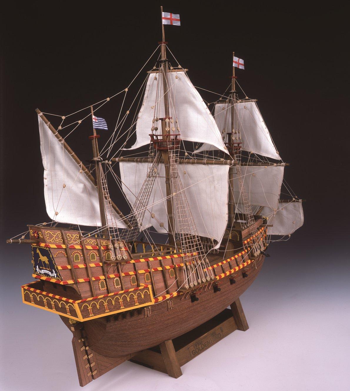 木製帆船模型 1/50 ゴールデンハインド リニューアル版 ウッディジョー B008CC1UGQ