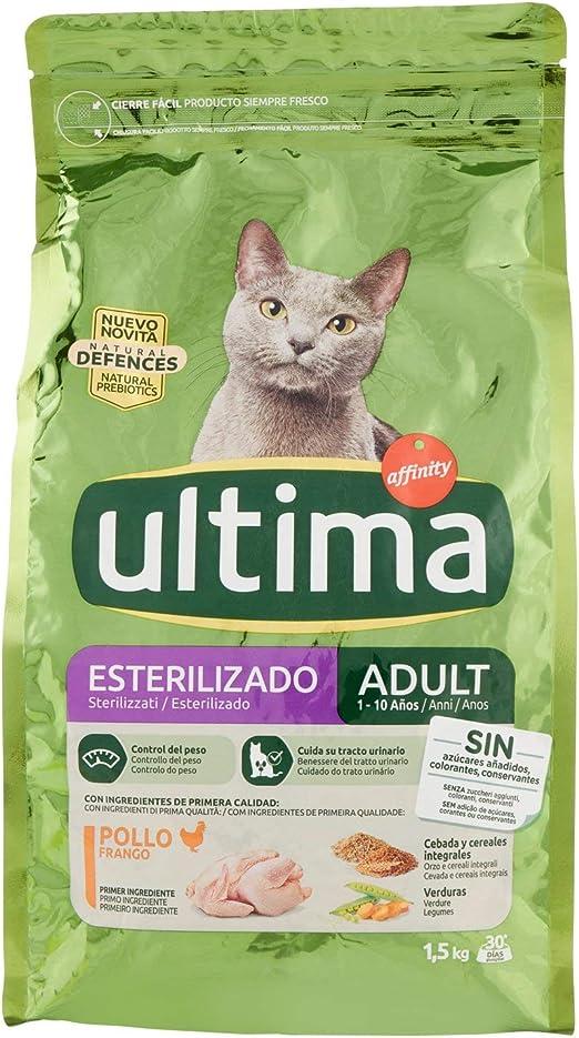 Ultima Pienso para Gatos Esterilizados Adultos con Pollo - 1.5 kg ...