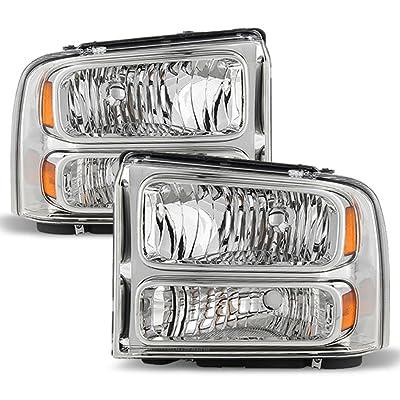 ACANII - For 2005-2007 Ford F250 F350 F450 F550 Super duty Headlights Driver + Passenger Side 05 06 07: Automotive