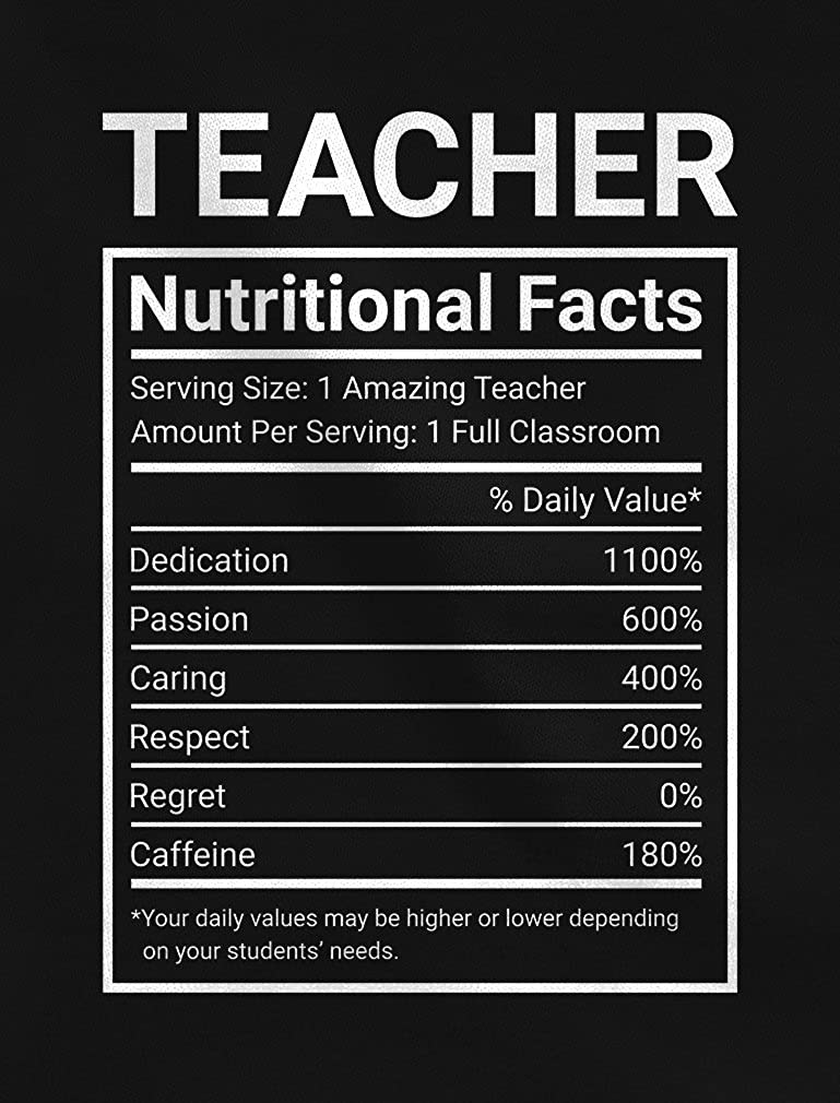 Green Turtle T-Shirts Camiseta para Mujer - Regalo para Profesora - Teacher Nutritional Facts: Amazon.es: Ropa y accesorios