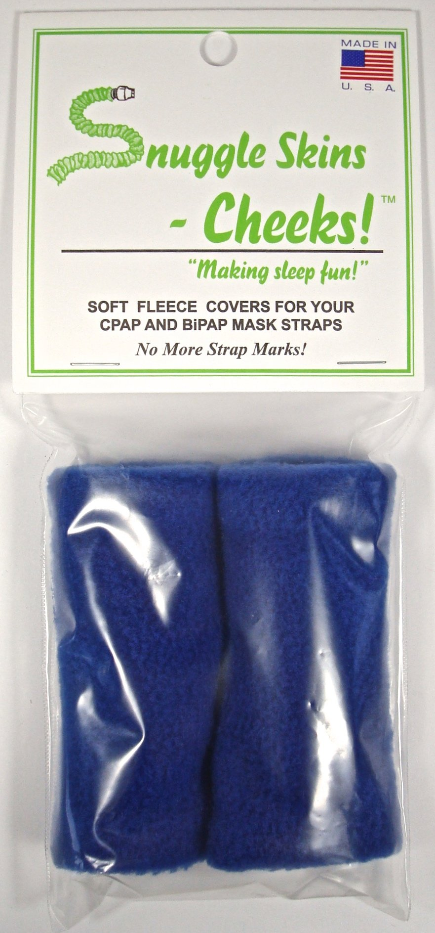 Snuggle Skins Cheeks! - CPAP Straps Covers - No More Strap Marks! (Blue)
