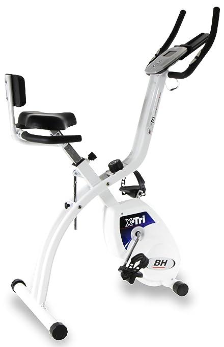BH Fitness X.Tri H170 bicicleta estática plegable 3 en 1: Trabaja en 3 posiciones diferentes, vertical, sentado o recumbent: Amazon.es: Deportes y aire ...