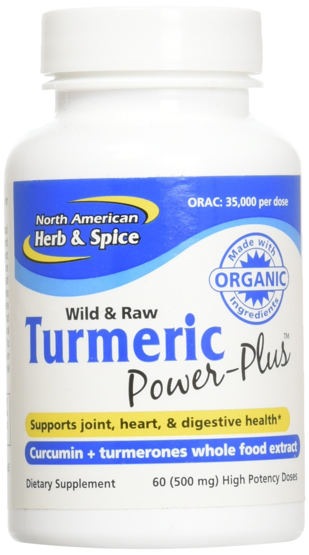 Amazon.com: North American Herb & Spice Turmeric Power-Plus Gels, 60 Count: Health & Personal Care