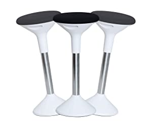 SUN-FLEX Active | Height-Adjustable Balance Wobble Stool for Standing Desk, Ergonomic Office Chair and Perch Stool for Natural and Active Sitting/Standing Up Position