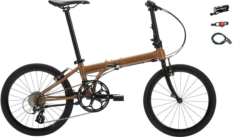 2018年モデル DAHON(ダホン) speed falco(スピードファルコ) 20インチ折り畳み自転車 +フロントライト、テールライト、ロングワイヤー錠 B077XWLYJJカッパーゴールド