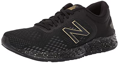 5012528a1 New Balance Women's Arishi V2 Fresh Foam Running Shoe Black/Metallic Gold,  ...