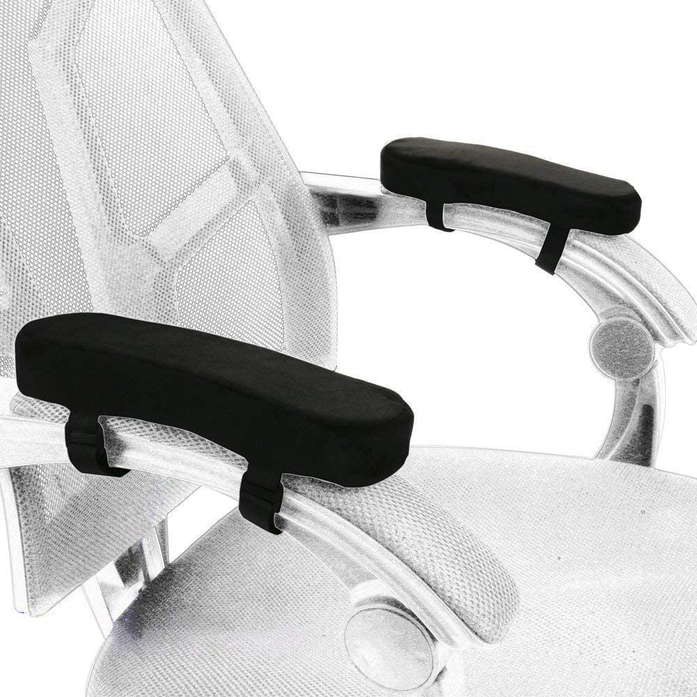 Set of 2 Comfy Armrest Pads for Home Office Chair Furniture Arm Rest Cover