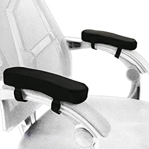 Memory Foam Chair Armrest Pad, Comfy Office Chair Arm Rest Cover for Elbows and Forearms Pressure Relief(Set of 2)