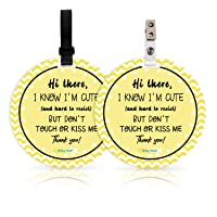 No Touching Newborn Baby Car Set Sign or Stroller Tag, Do Not Touch Baby Sign for Baby Girl Boy, Baby Preemie Gender…