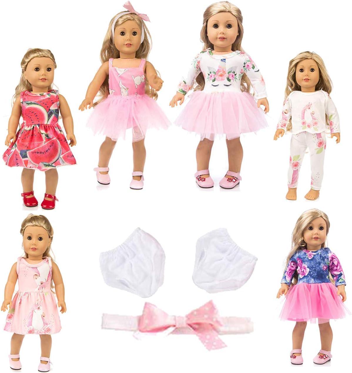 axxxt 11PC American girsl Doll Unicorn Doll American girsl Unicorn Doll Accessories Outfits Fits 18