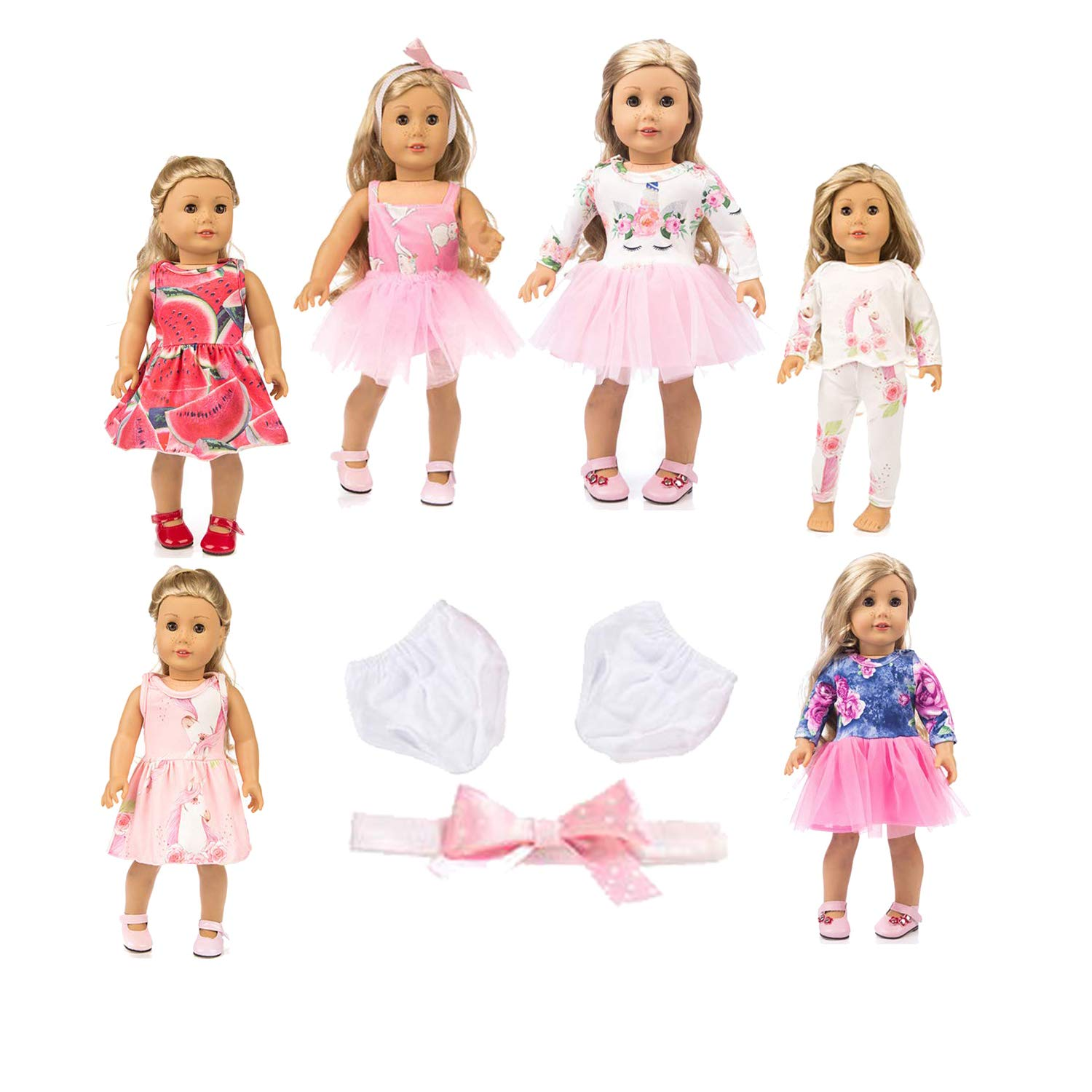 axxxt 11PC American girsl Doll Unicorn Doll American girsl Unicorn Doll Accessories Outfits Fits 18' Unicorn Doll Clothes American girsl Unicorn Doll Clothes 18 inch American girsl Doll Unicorn