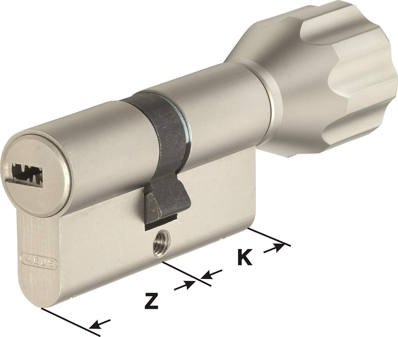 ABUS EC550 Profil-Knaufzylinder L/änge Z30//K50mm mit 10 Schl/üssel