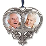 Memorial Photo Ornament - Double Picture Opening - In Loving Memory Christmas Ornament - Loss of a Loved One Gift - Remembrance Ornament - Bereavement Gifts