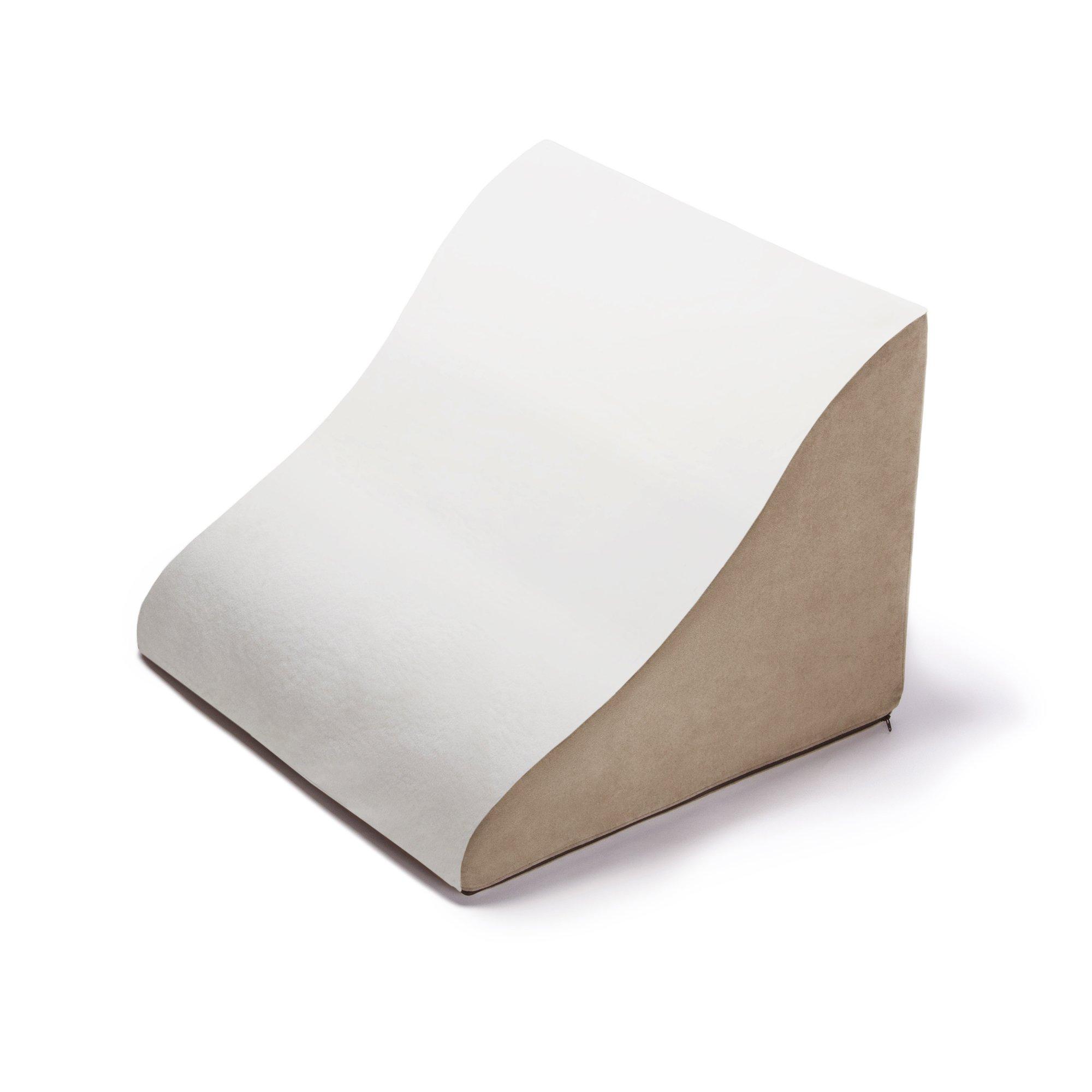 Avana Back Rest Memory Foam Back/Lumbar Pillow, Cloud/Camel