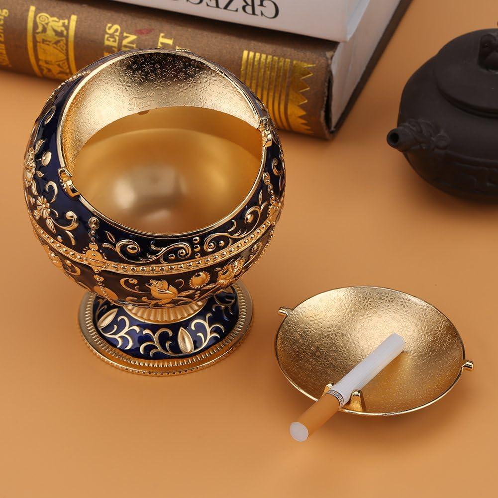 Akozon Collectibles Ashtray 1pc Portable Ashtray Round Ball Home Hotel Wedding Gift Collectibles Two Colors Dark Blue