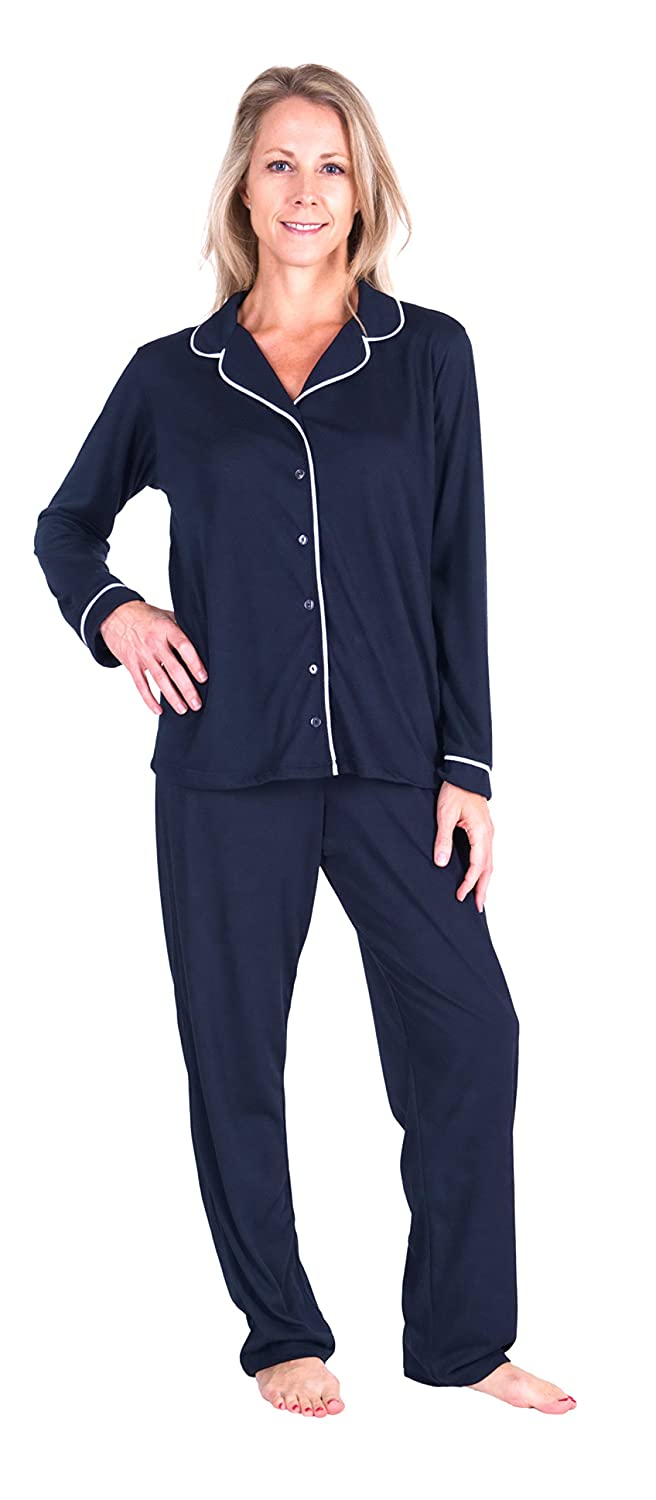 Cool-jams Wicking Button Front Pajama Set (S-2X) at Amazon Women s Clothing  store  c9f45c951