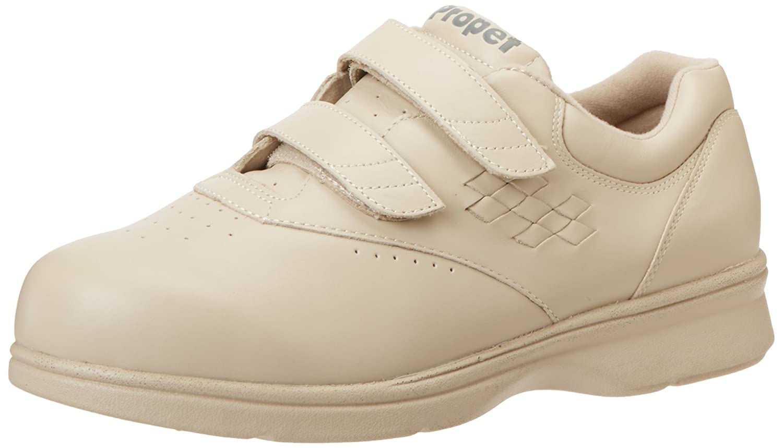Propet Women's Vista Strap Sneaker B000P4AHEA 6 4E US Bone