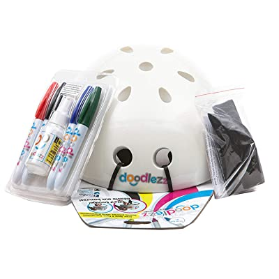 Doodlezz Draw Spray & Erase Skateboard Helmet, Includes Set of Erasable Markers for Drawing on The Helmet : Sports & Outdoors