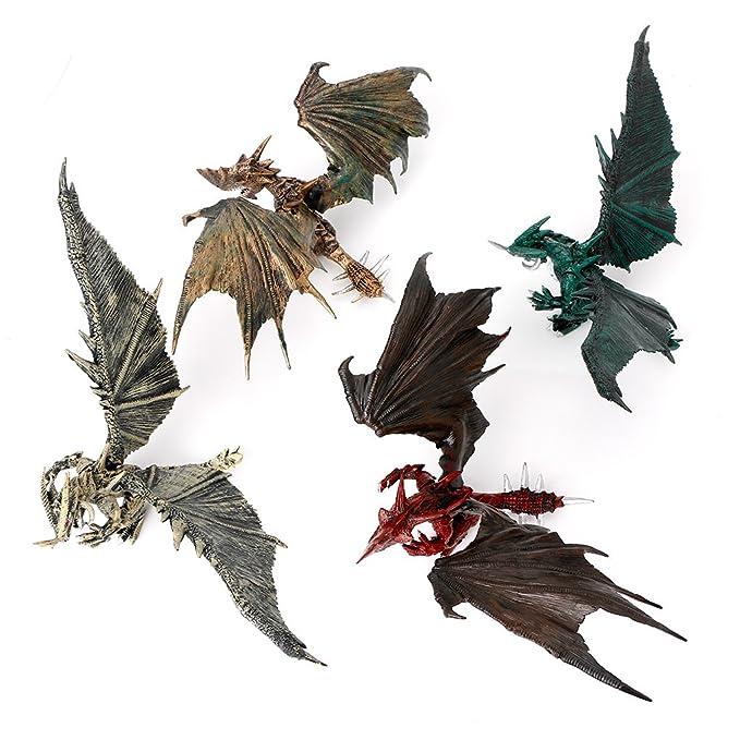 Dabixx Modelo para niños, Flying Dinosaur Modelo Dragones Figura de Acción Juguetes Clásicos Niños Moldes Educativos - Colorea al Azar: Amazon.es: Hogar