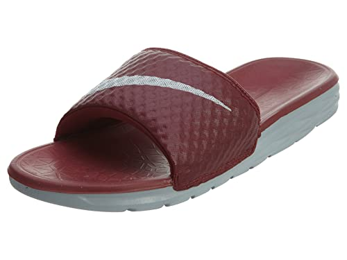 4012dbb81efc6 Nike Men s Benassi Solarsoft Slide 705474-601 TEAM RED WOLF GREY 8 D(M) US   Amazon.in  Shoes   Handbags