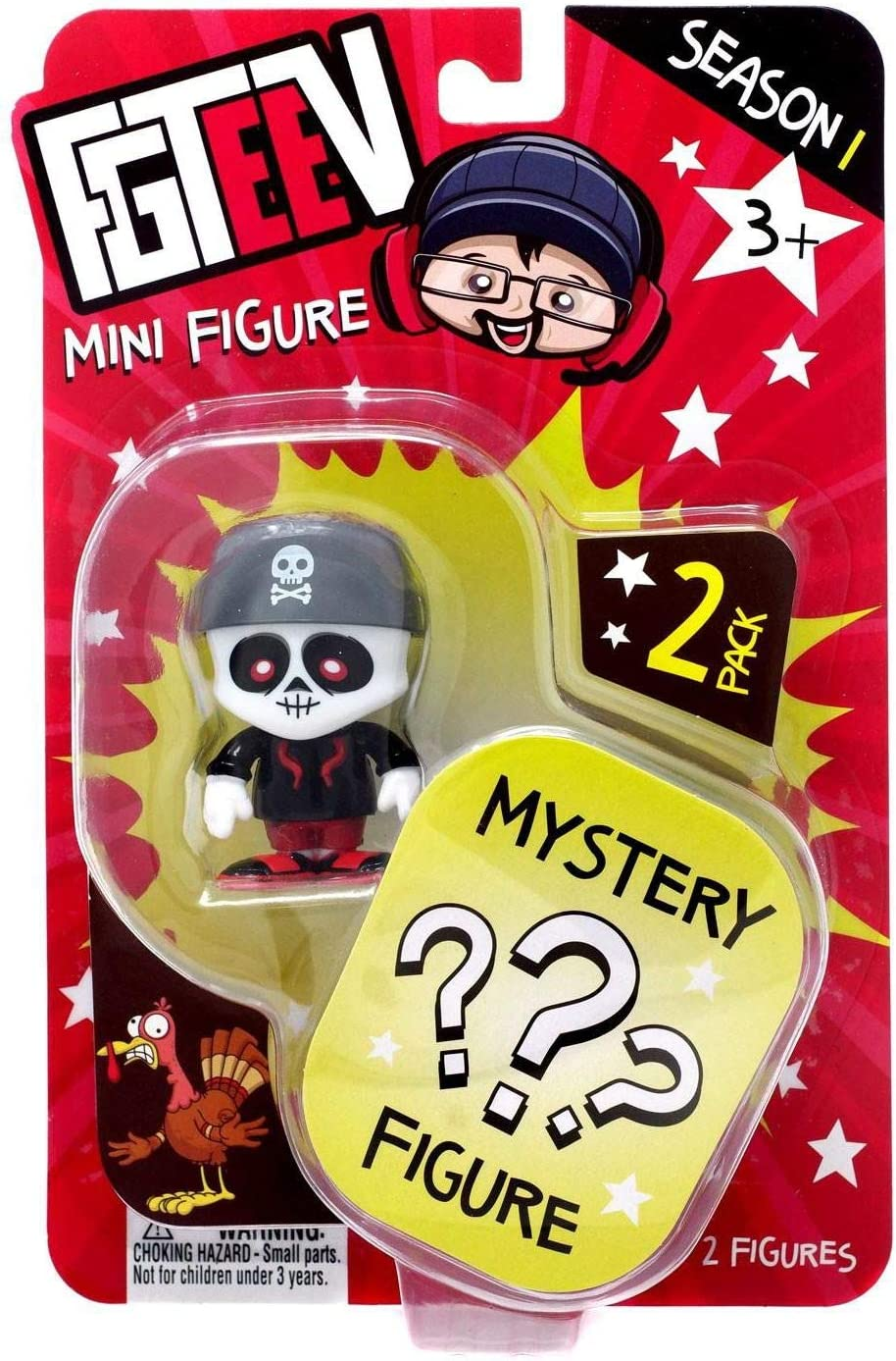 Amazon Com Fgteev Skinny Bonz One Mystery Mini Action Figure 2
