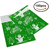 Pack4Life 10x13 Christmas Poly Mailers with Snowman Christmas Tree Patterns Holiday Self Sealing Shipping Envelopes Bags Pack of 100