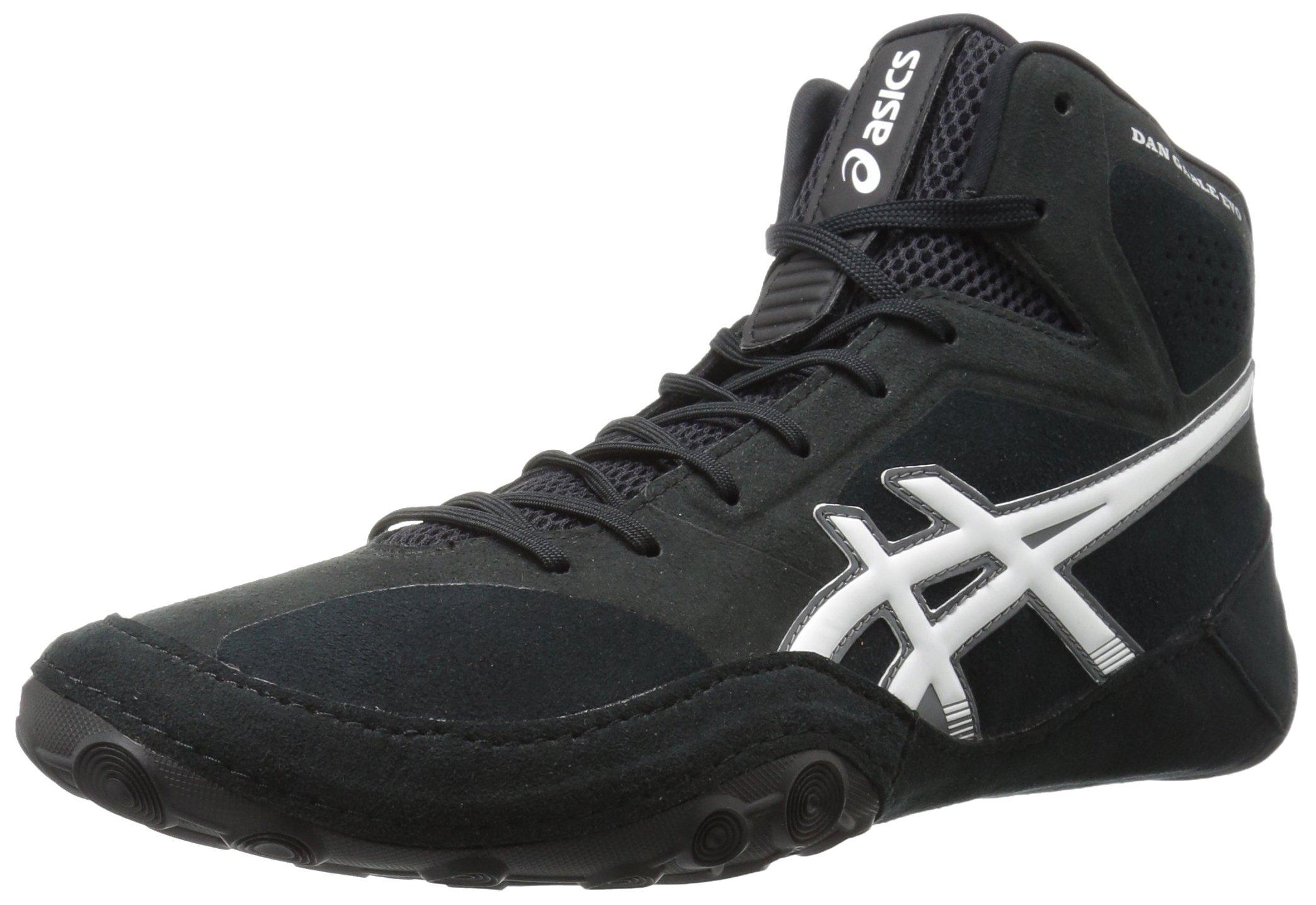 ASICS Men's Dan Gable Evo Wrestling Shoe, Black/White/Carbon, 7 Medium US