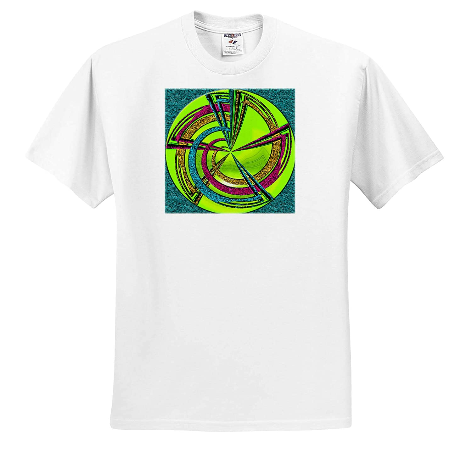 T-Shirts A Polar Coordinate in Pink and Green with a Digital Ink Outline Polar Coordinate Green 3dRose Jos Fauxtographee
