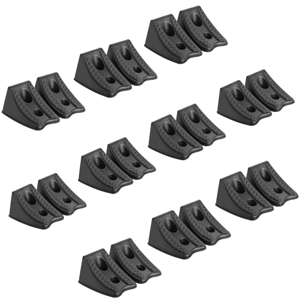DEDC Heavy Duty Wheel Chocks for Caravan Car Wheel Stoppers (20pcs)