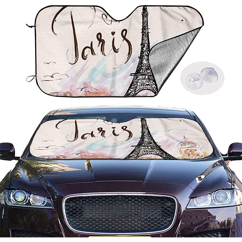 Blaim sunshade covers Paris Tour Eiffel Auto Windwhield Stores Pare-Soleil Fen/être Universelle Gardez Votre v/éhicule Frais visi/ère pour Voiture Camion SUV Pare-Soleil