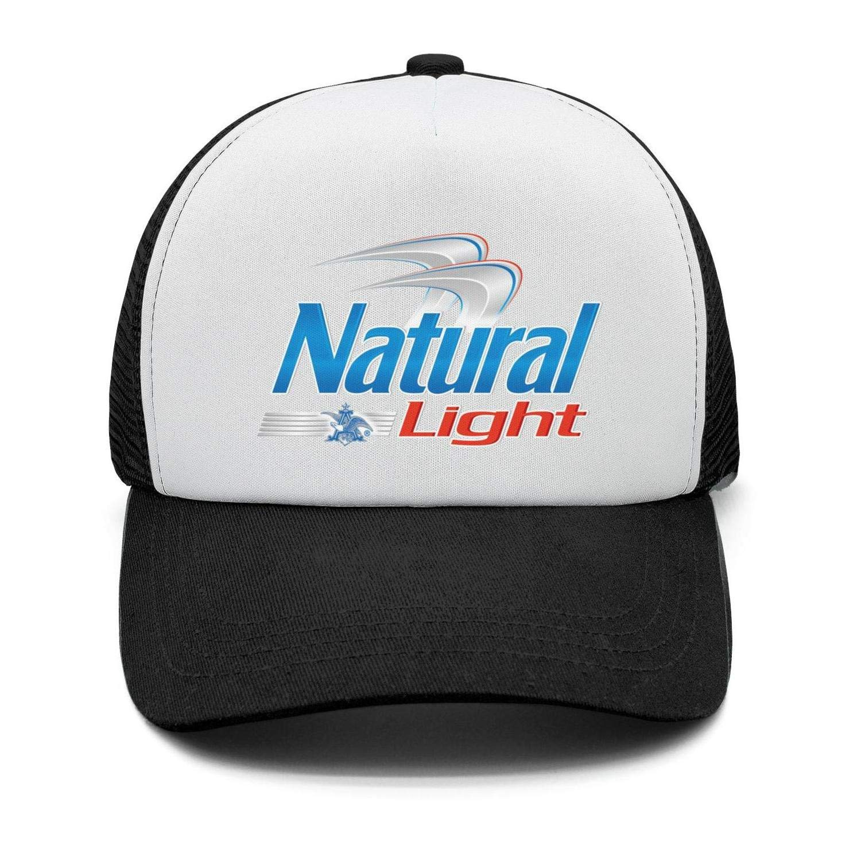 Adjustable dad Cap Univeins Mens Street Dancing Snapback Hat Natural-Light-Beer-Logo