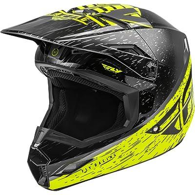 Fly Racing 2020 Kinetic Helmet - K120 (X-Small) (HI-VIZ/Grey/Black): Automotive