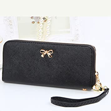 Image Unavailable. Image not available for. Color  US SHIP Fashion Lady  Women Leather Zip Clutch Wallet Long Card Holder Case Purse ... 3da8ab04f1