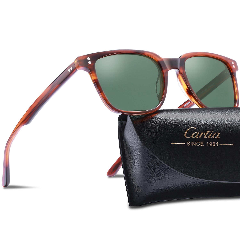 625f048c5a Carfia Chic Retro Polarized Sunglasses for Women Men