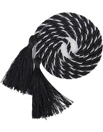 Tfxwerws 1/paire 135/cm Noir Chambre /à coucher Rideau Embrasses Corde Attaches fermoirs Tassel D/écoration