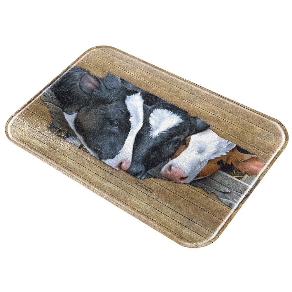 Queens of the Dairy Farm Cows All Over Glass Cutting Board Multi Standard One Size