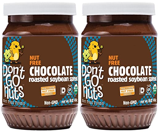 Don't Go Nuts Nut-Free Organic Roasted Soybean Spread, Chocolate, 2 Count