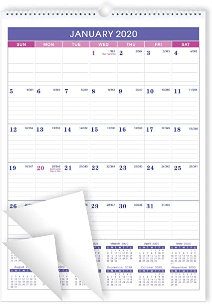 Calendario de Pared 2020 - Planificador Mensual del Calendario 2020, 30X40 cm: Amazon.es: Oficina y papelería