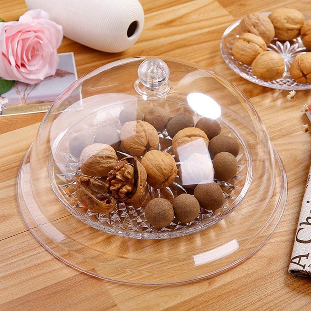 UPKOCH Copertura per Tenda per Alimenti in Acrilico Protezione per Alimenti per Alimenti per Cupcake Copertura per Display Fly Cake per Uso Interno Allaperto 10 Pollici