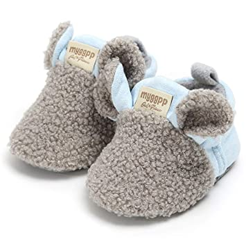 a5094905cebea LIVEBOX Newborn Baby booties, Cute Cozy Fleece Warm Winter Infant Prewalker  Toddler Snow Boots...