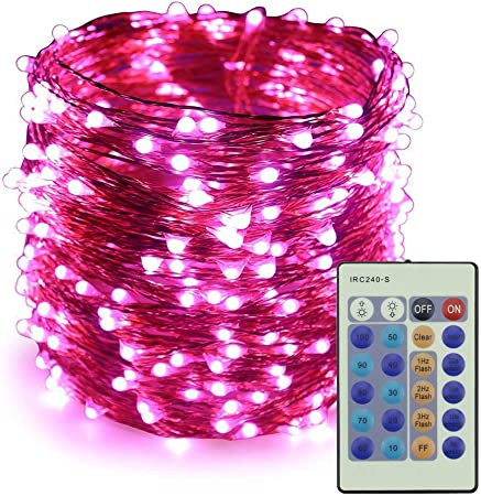 Warm White Colohas 2-Pack 33ft 100 LED Copper Wire Outdoor String Fairy Waterproof Christmas Lights 8 Modes Solar Powered Fairy Lights for Home,Gardens Patios,weddings and Parties Solar String Lights