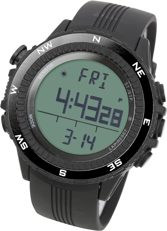 [Lad Weather] Sensor alemán Vaso Digital Previsión del tiempo Altímetro Barómetro Cronógrafo Alarma Outdoor (alpinismo/a pies/campo) Sport Hombre Reloj de pulsera