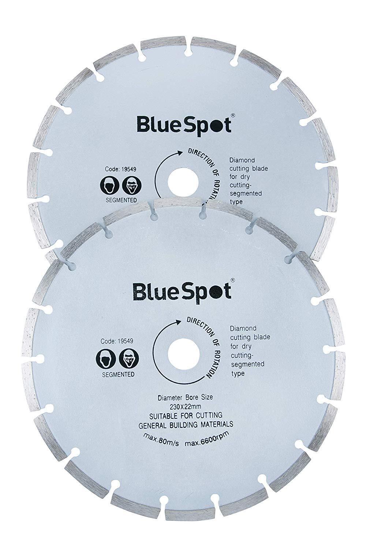 Blue Spot Tools 19549 2 Piece 9 Inch Diamond Cutting Disc Set