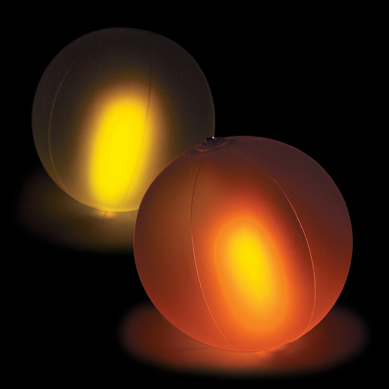 Fun Express - Color Changing Glow Beach Balls (dz) - Toys - Inflates - Beach Balls - 12 Pieces by Fun Express