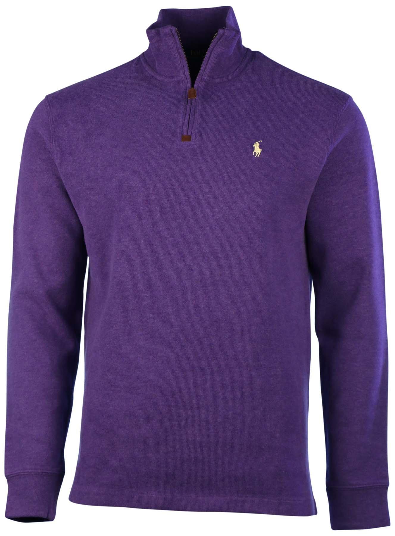 Polo Ralph Lauren Mens 1/2 Zip Pullover Sweater,Saranac Purple,Medium